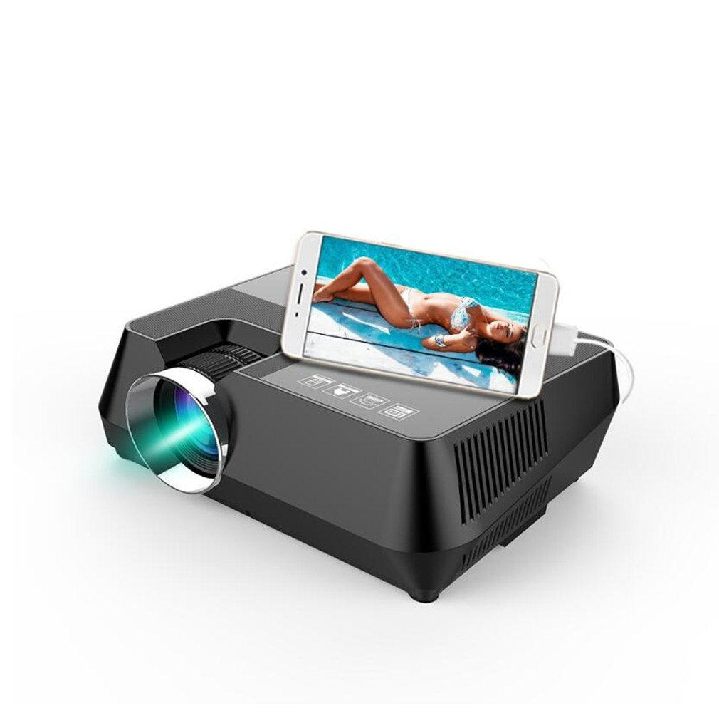 Projectors Data Show Mini USB Connection Cell Phone 1600 Lumens TV Projector 800X600dpi Full HD Home Theater Entertainment