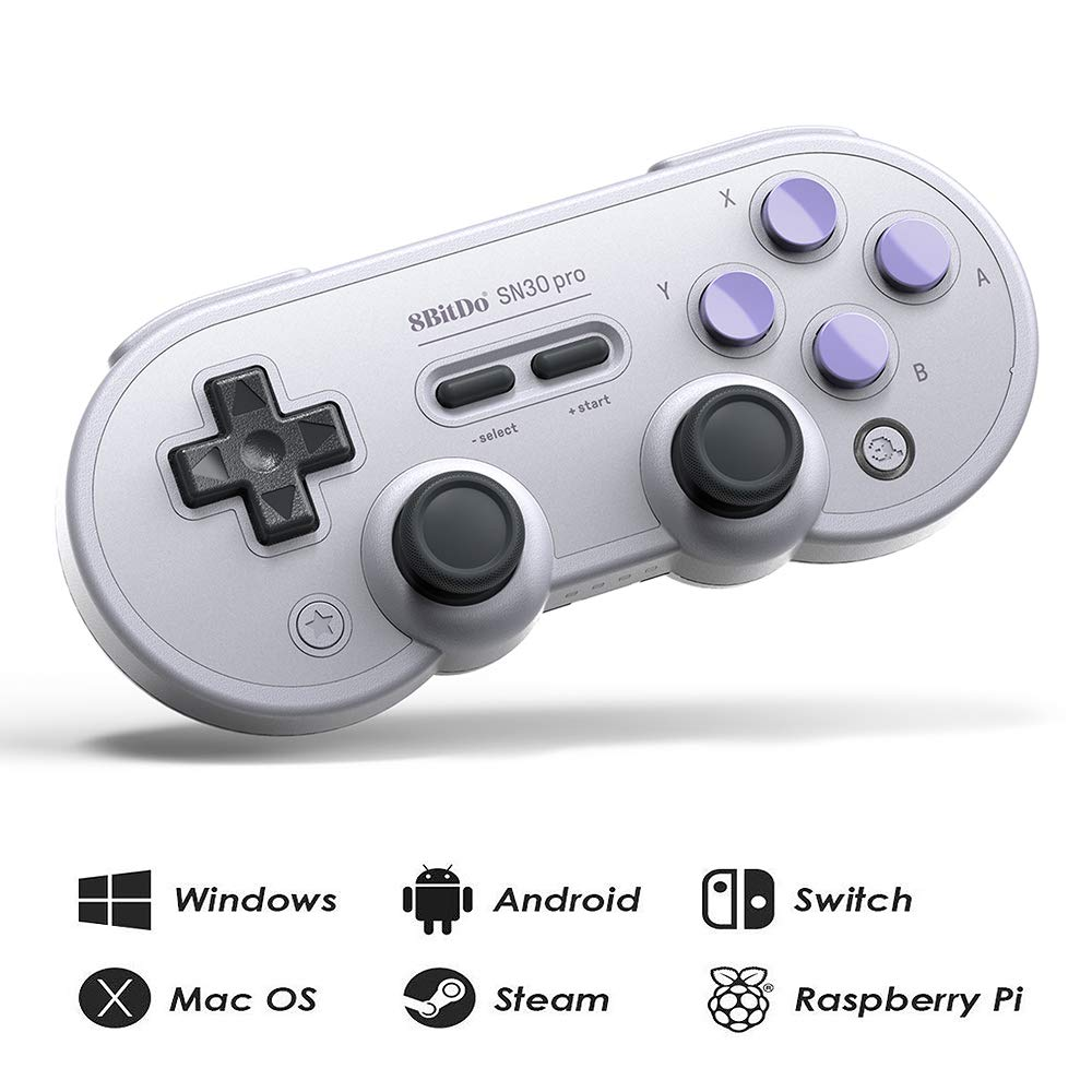 8Bitdo SN30 Pro Wireless Bluetooth Controller with Joysticks Rumble Vibration USB-C Cable Gamepad for Windows, Mac OS, Android, Steam, etc, Compatible with Nintendo Switch by RunSnail (Image #1)