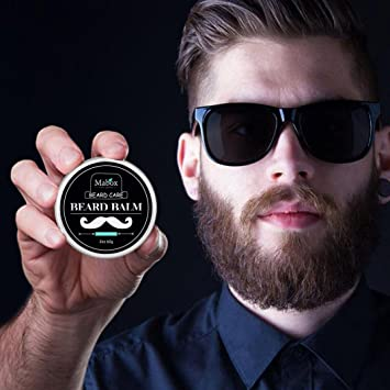 Amazon.com: DZT17 17g Men Beard Balm Leave supple and glossy ...