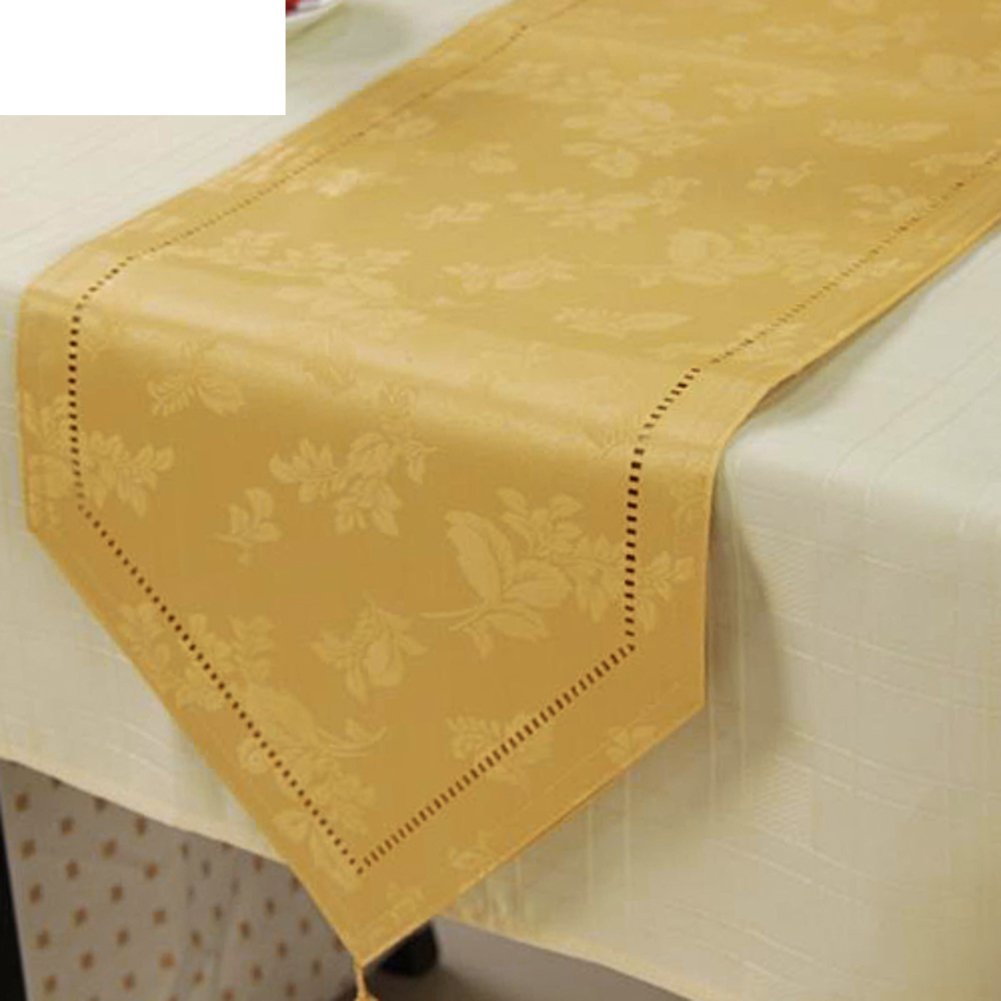 Continental Carved Waterproof Disposable Table Cloth,Table Flags Placemat,Household Towel-B 33x220cm(13x87inch)