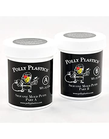 Polly Plastics Silicone Molding Putty - 1/2 Lb - for Moldable Plastic | Wax
