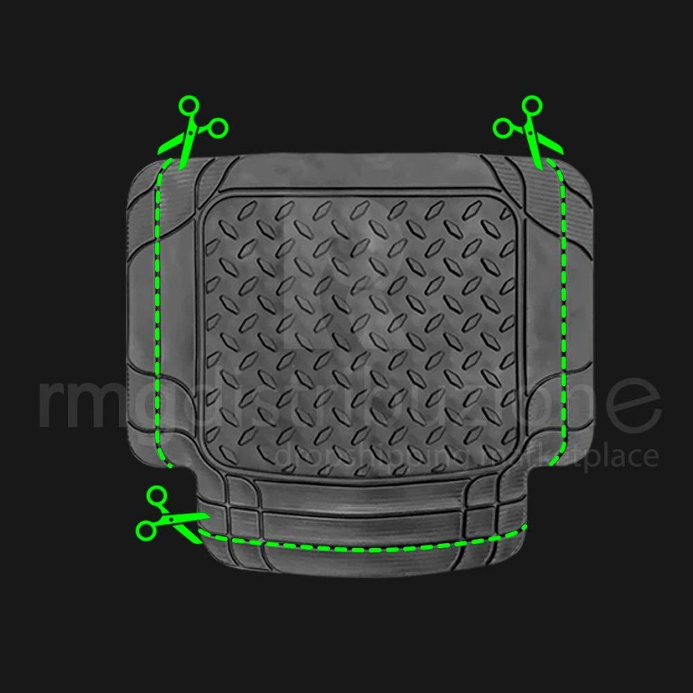tappetini Resistenti Realizzati in Gomma inodore con pretagli per Adattarsi a Tutti Le Versioni Auto R17S0201 2012-2017 rmg-distribuzione Tappeti Auto per B-Max Versione