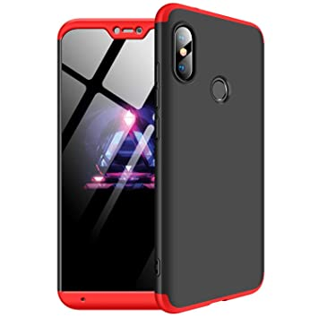 watch 85376 133cc MYLBOO Case For Xiaomi Mi A2 Lite/Xiaomi Redmi 6 Pro,[3 in 1]360 Degrees  Full Body Protection,[Anti-Scratch] [Shockproof] Matte Ultra Slim PC Hard  ...