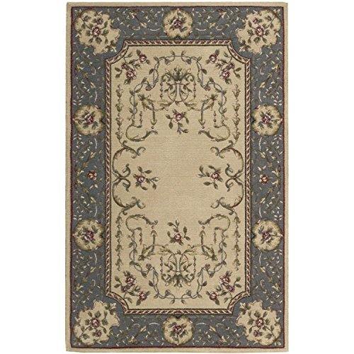 - Nourison Ashton House (AS30) Beige Rectangle Area Rug, 2-Feet by 2-Feet 9-Inches (2' x 2'9