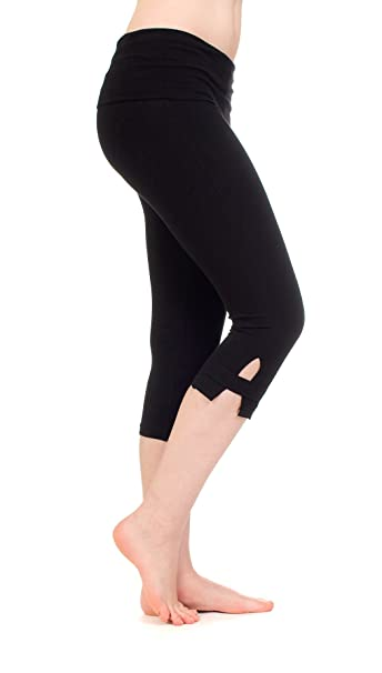 Hard Tail Rolldown Side Slinger Womens Capri Yoga Pants ...
