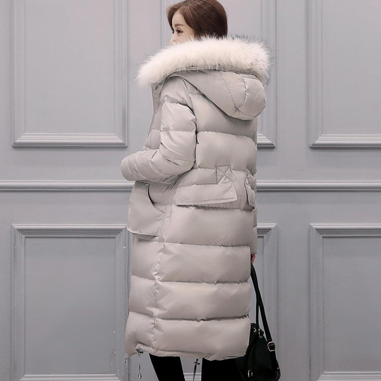 Women Down Jacket Hooded Fur Collar Long Feather Duck Down Jacket Winter Coat at Amazon Womens Coats Shop