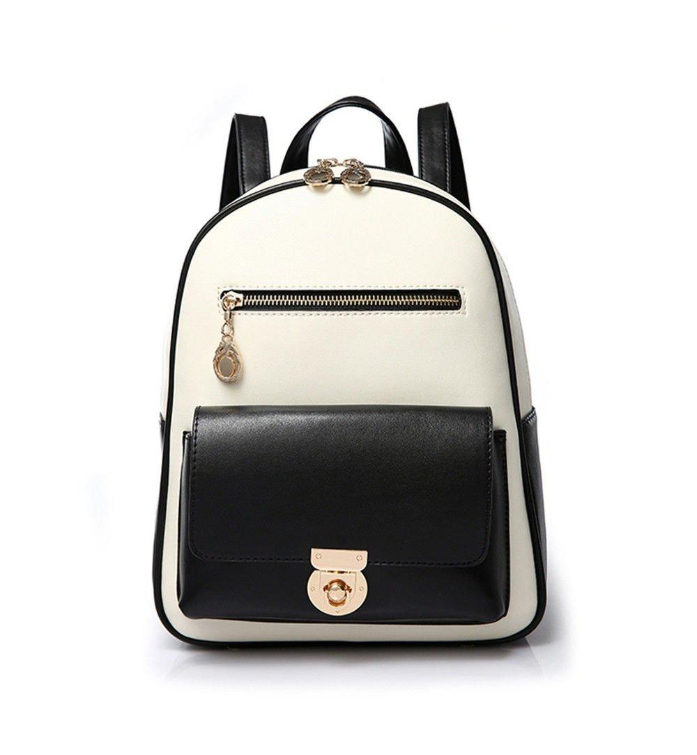SJMMBB Lady Shoulder Bag, Student Backpack, Casual Pu Leather Bag,Black,241330Cm