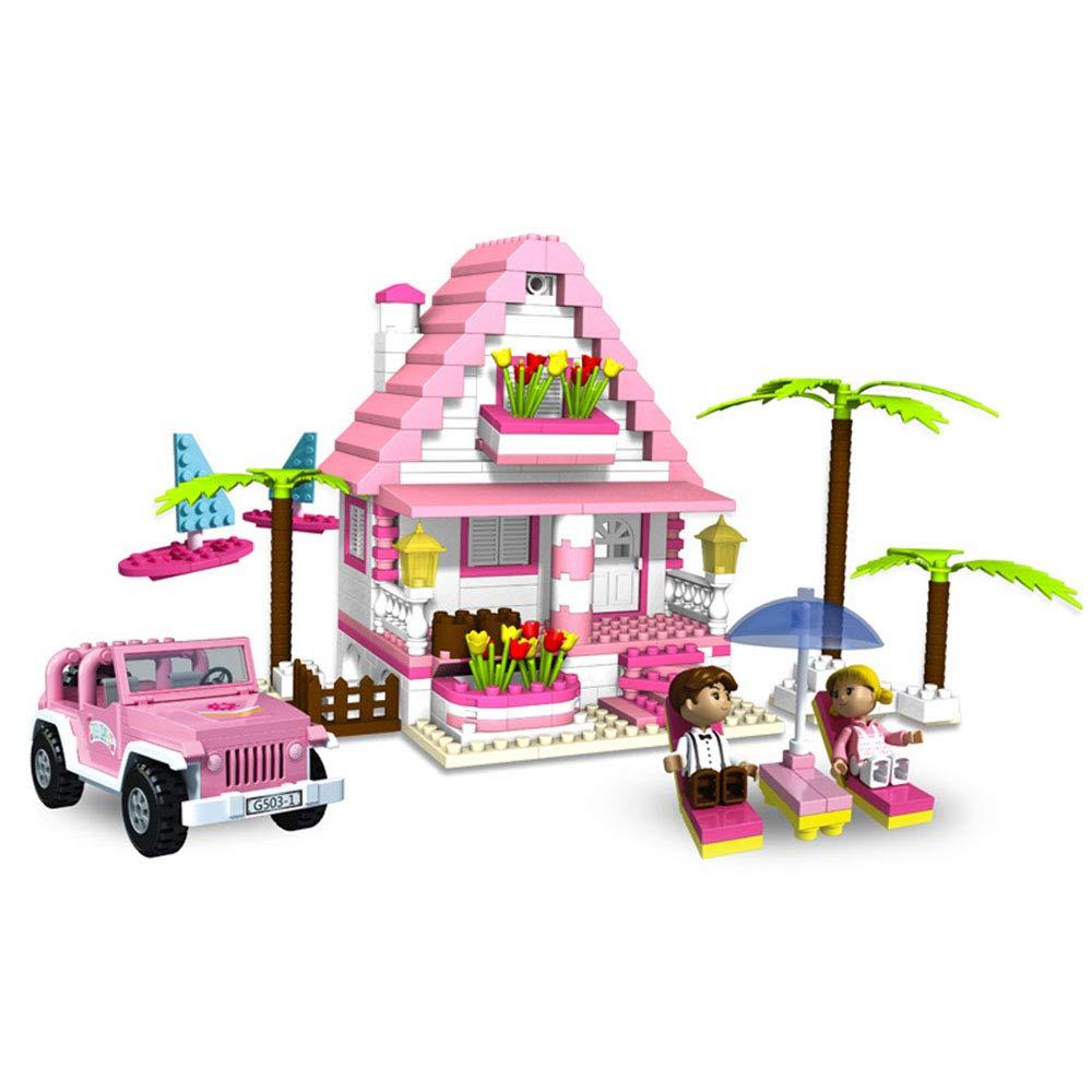 子供用DIYステッチカーキャッスル ビルディングブロック おもちゃ パズル 子供のおもちゃ   B07QBQ99H2