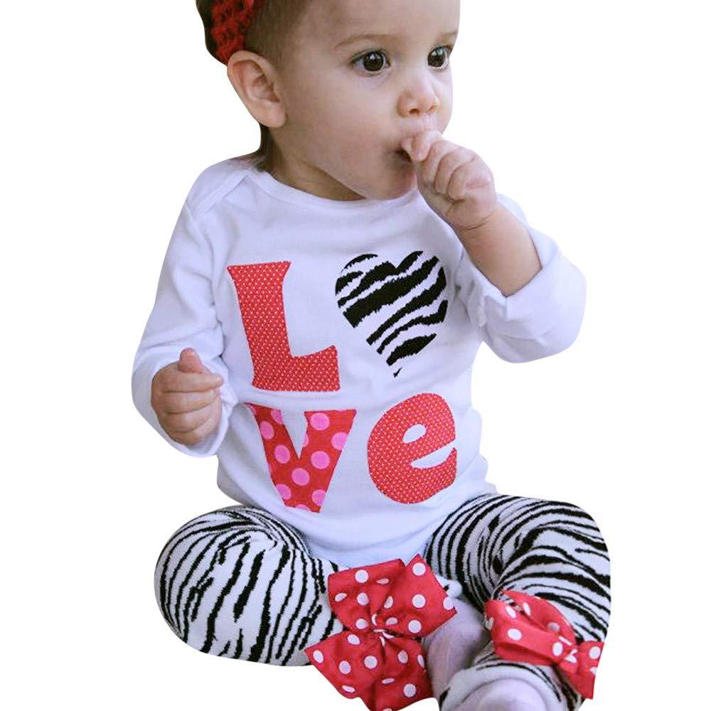2 Stück Kinderkleidung Set Sonnena Baby T-Shirt Romper Outfits Kleinkind Junge Mädchen Love Tops Strampler Overall+ Hose Babyanzug Baumwolle Langarmshirt Sweatshirt