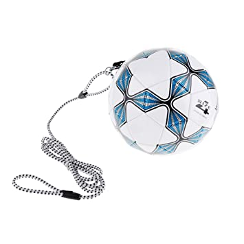 FLAMEER Balón De Fútbol Tamaño 4 con Entrenamiento Elástico De ...