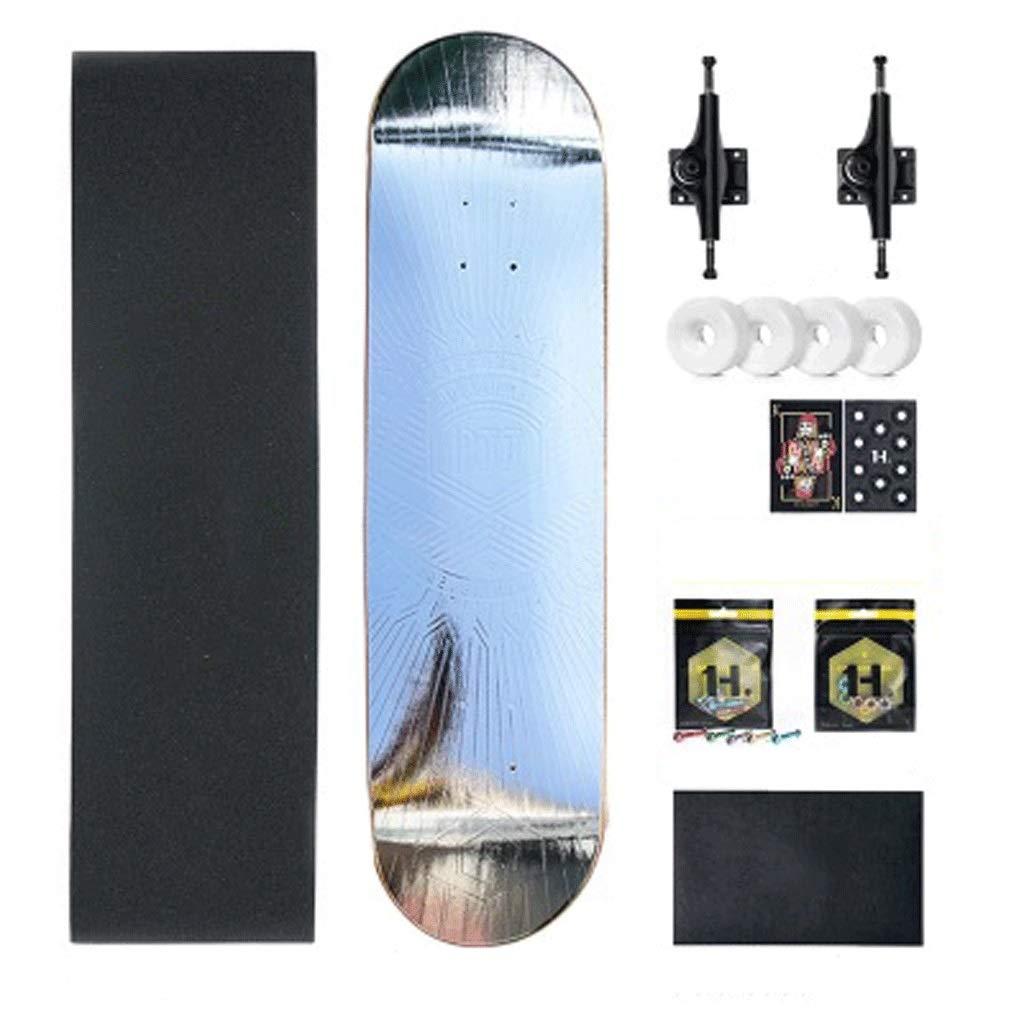 【新作からSALEアイテム等お得な商品満載】 初心者の大人のティーンエイジャープロフェッショナル四輪のスケートボードの男の子と女の子のスケートボード両側傾斜ボード シルバー (色 シルバー : Green) Green) B07KYHYRY8 シルバー しるば゜ シルバー しるば゜, 小淵沢町:efcb05e2 --- a0267596.xsph.ru