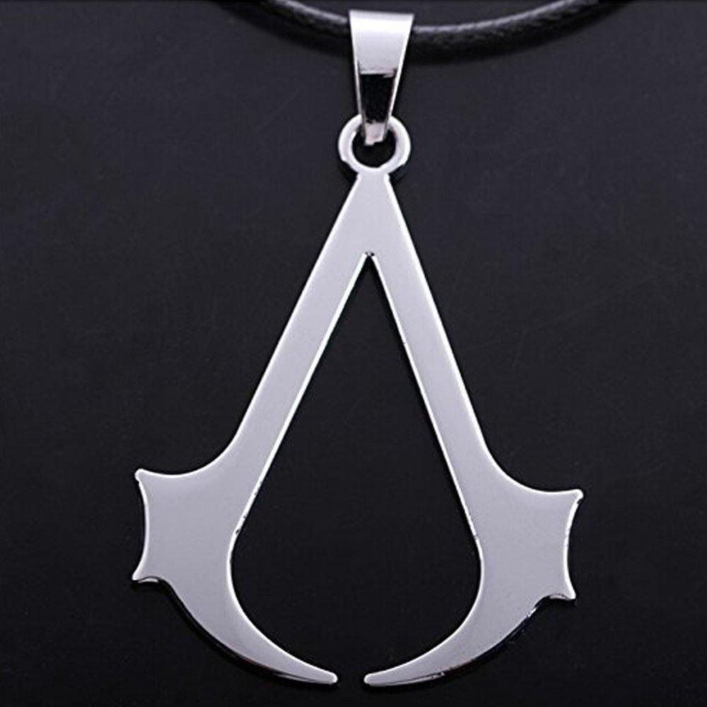 Assassin's Creed Zinc Alloy Logo Necklace - DeluxeAdultCostumes.com