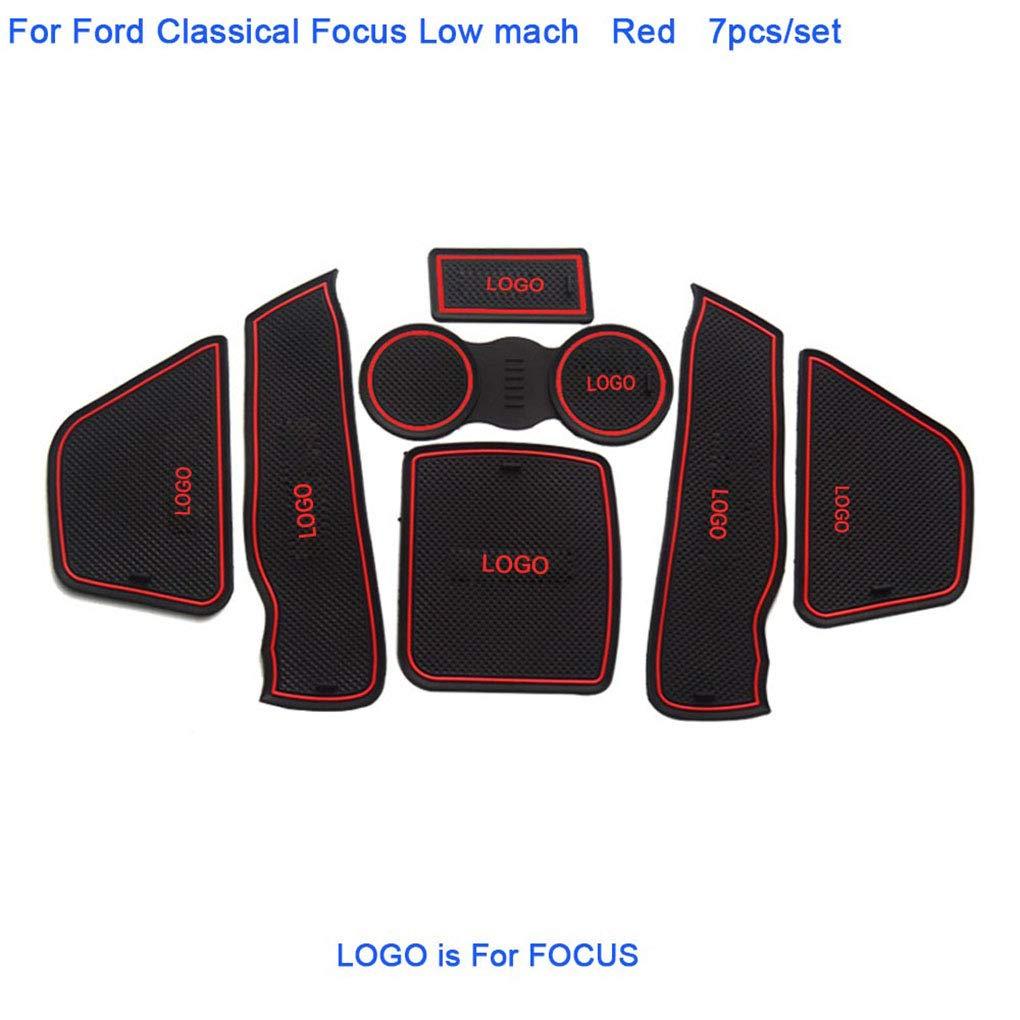 Morza 7pcs Remplacement pour Ford Focus 2007-2014 Car Styling Fente Pad Porte int/érieure Tapis Groove Auto D/écoration