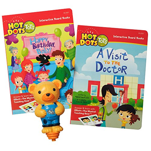 Educational Insights Hot Dots Tots All About Me Interactive Board Book Set with Elliott Pen