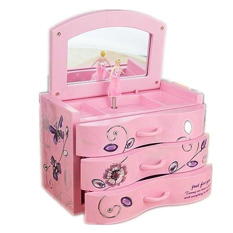 Caja de música y figuras de decoración para el hogar accesorio maquillaje regalo bailar Ballet infantil