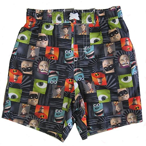 Disney Baby Boys Multi Color Pixar Character Print Swimwear Shorts (Disney Memorial)