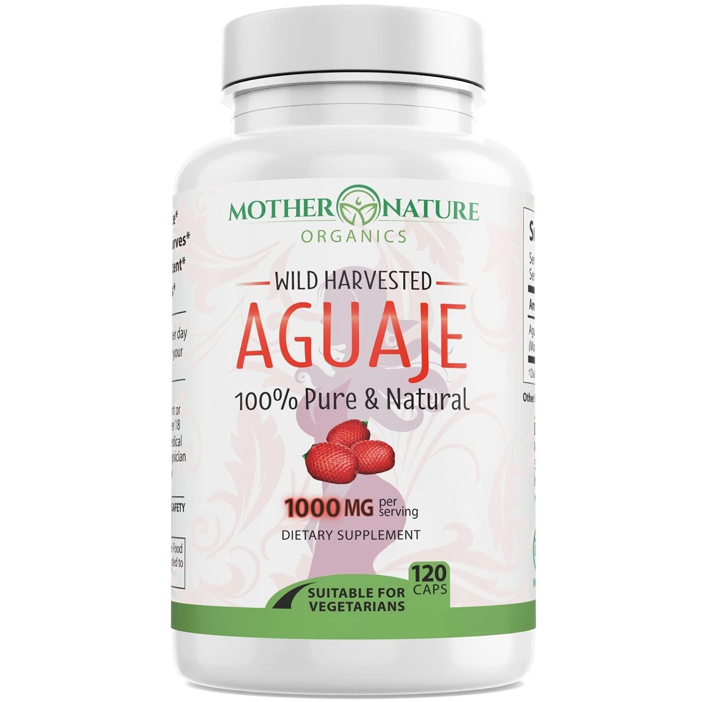 Aguaje Fruit Supplement - 120 Vegan Capsules - 1000mg Per Serving - Natural Butt and Bust Enhancement, Curve Enhancer, Hormone Balancer - Fresh Harvest from Peru