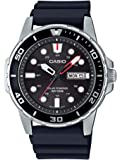 Casio Men's Stainless Steel Quartz Resin Strap, Black, 22 Casual Watch (Model: MTP-S110-1AVCF)