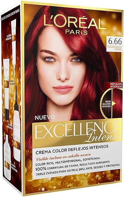 EXCELLENCE INTENSE tinte #6,66 rojo escarlata intenso: Amazon ...