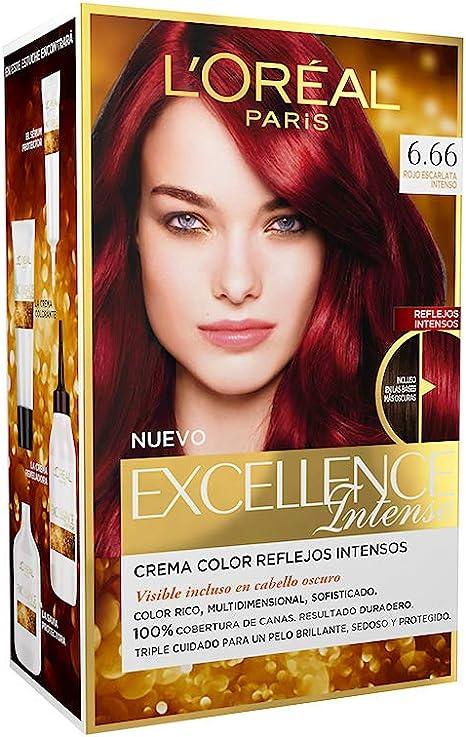 EXCELLENCE INTENSE tinte #6,66 rojo escarlata intenso ...