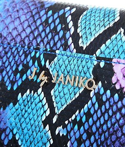 J. by Janiko DIYA JB1132 Damen Clutch Blau Snake print
