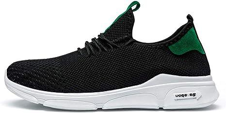 AEPEDC Zapatillas para Hombre Zapatos de Tacón Bajos Zapatillas de Deporte Blancas Zapatos de Vulcanizado de Malla Zapatos de Entrenamiento Suaves para Hombre Mocasines Clásicos: Amazon.es: Deportes y aire libre