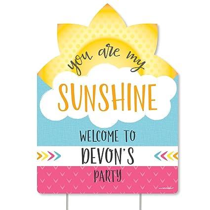Amazon Com Big Dot Of Happiness Custom You Are My Sunshine
