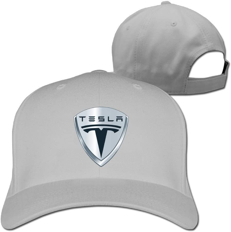 Hittings Adult Unisex Tesla Banda Cotton Peaked Gorra Visera Gorra Rosa Black