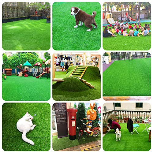 RoundLove Artificial Turf Lawn Fake Grass Indoor Outdoor Landscape Pet Dog Area (40X80 in) by RoundLove (Image #8)