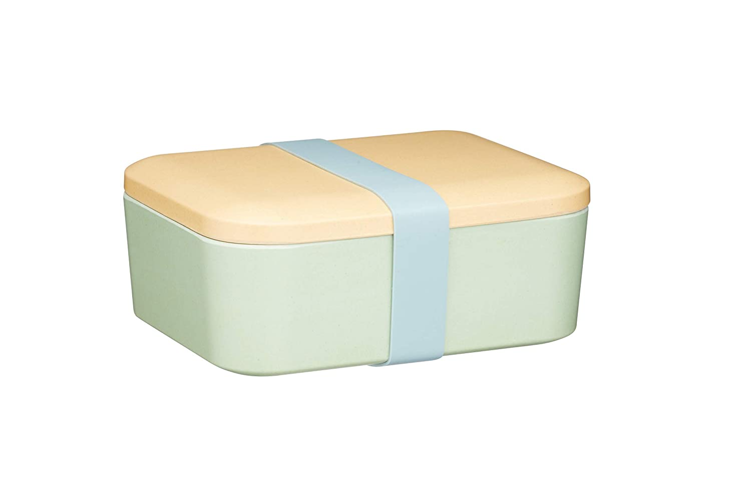 18 x 14.5 x 7.5 cm Sandwich Box with Lid Green KitchenCraft Natural Elements Bamboo Lunch Box