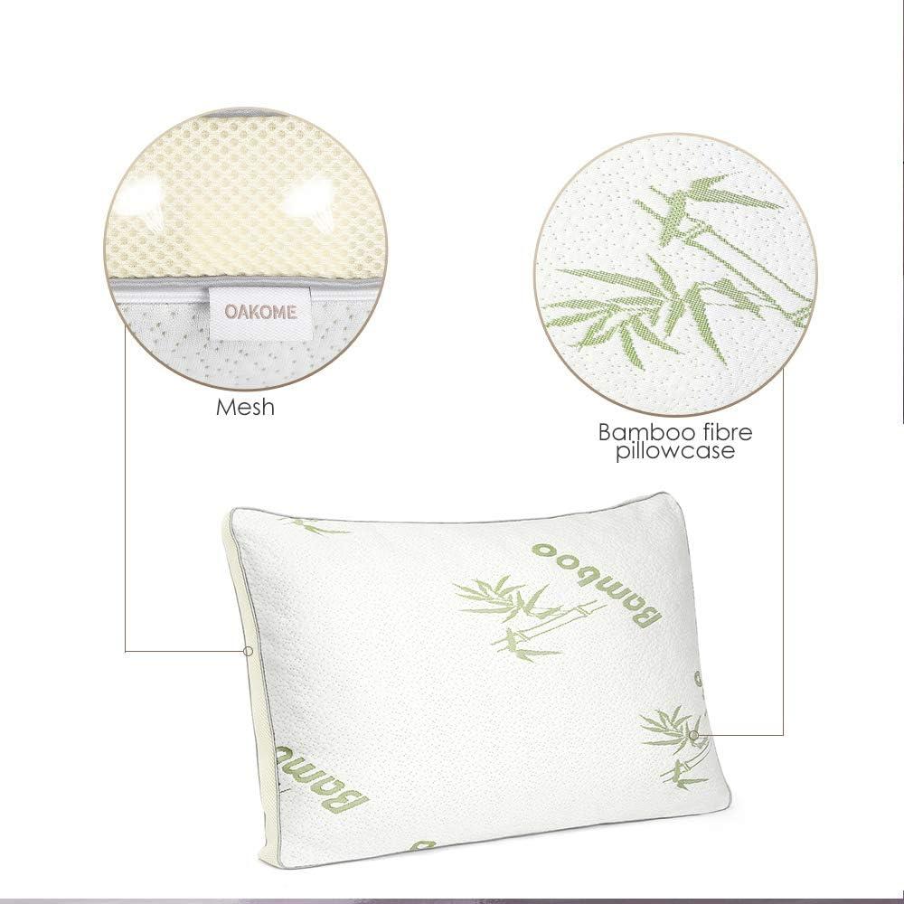 OAKOME® Bamboo Memory Foam Pillow