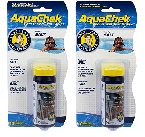 AquaChek White Swimming Pool and Spa 10 Count Sodium Chloride Test Kit (2 Pack)