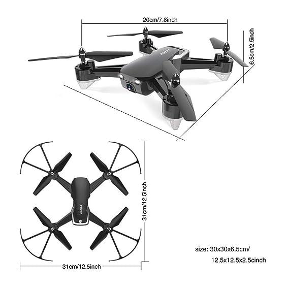 QEQ Drone De 4 Ejes con Cámara HD De Alta Definición Y Control ...