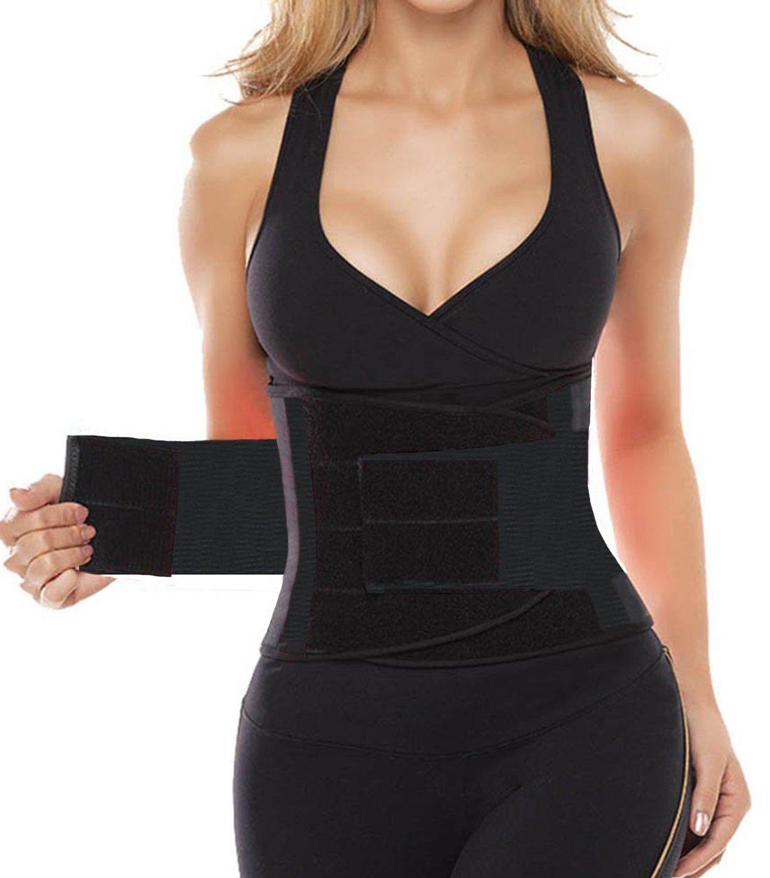 Liangxing Dilanniウエストトリマー重量損失Exerciseエクササイズ機器for ABS Lower Backサポート B07B2S8F52 L (waist:29.6,length:21.3)|ブラック ブラック L (waist:29.6,length:21.3)