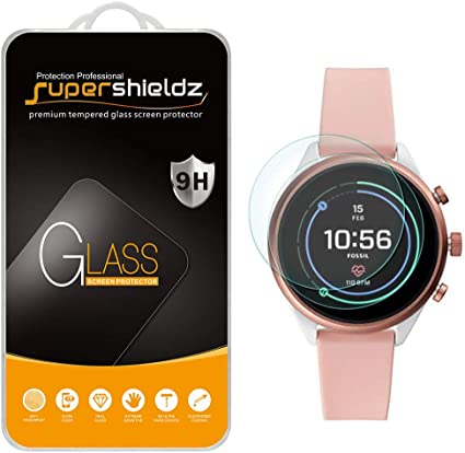 (2 Pack) Supershieldz for Fossil Sport Smartwatch 41mm (Gen 4) Tempered Glass Screen Protector, Anti Scratch, Bubble Free