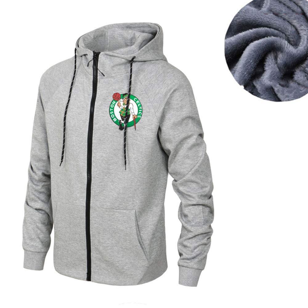 Baloncesto Jersey con Capucha Boston Celtics Su/éter Ropa De Manga Larga Camiseta Impresa Camisa con Capucha Sudadera C/ómodo Casual