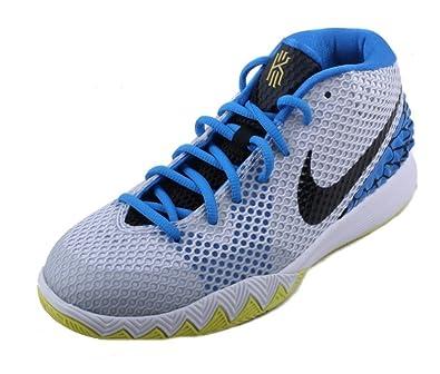 pretty nice dff9c 86827 Nike Boys Kyrie 1 (GS) Wings White Blue Yellow Basketball ...