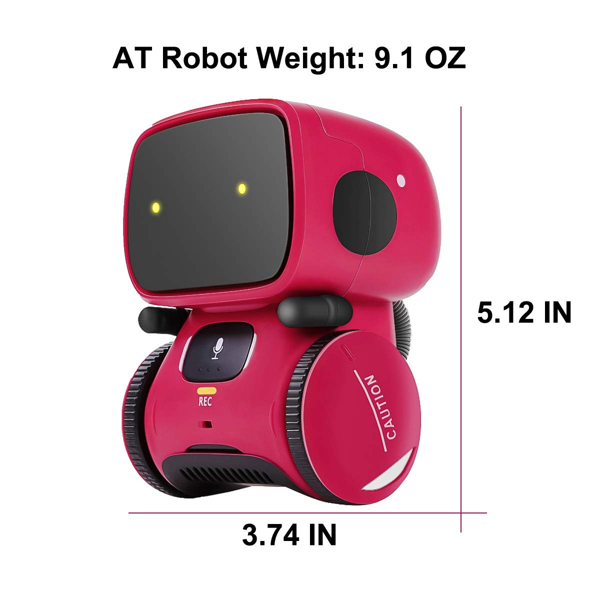 Kids Robot Toy, Smart Talking Robots, Gift for Boys and Girls Age 3+, Intelligent partner and teacher, with Voice Controlled and Touch Sensor, Singing, Dancing, Repeating by 98K (Image #2)
