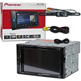 2018 Pioneer Car Audio Double Din 2DIN 6.2 Touchscreen DVD MP3 CD Stereo Built-in Bluetooth & DCO Waterproof Backup Camera with Nightvision