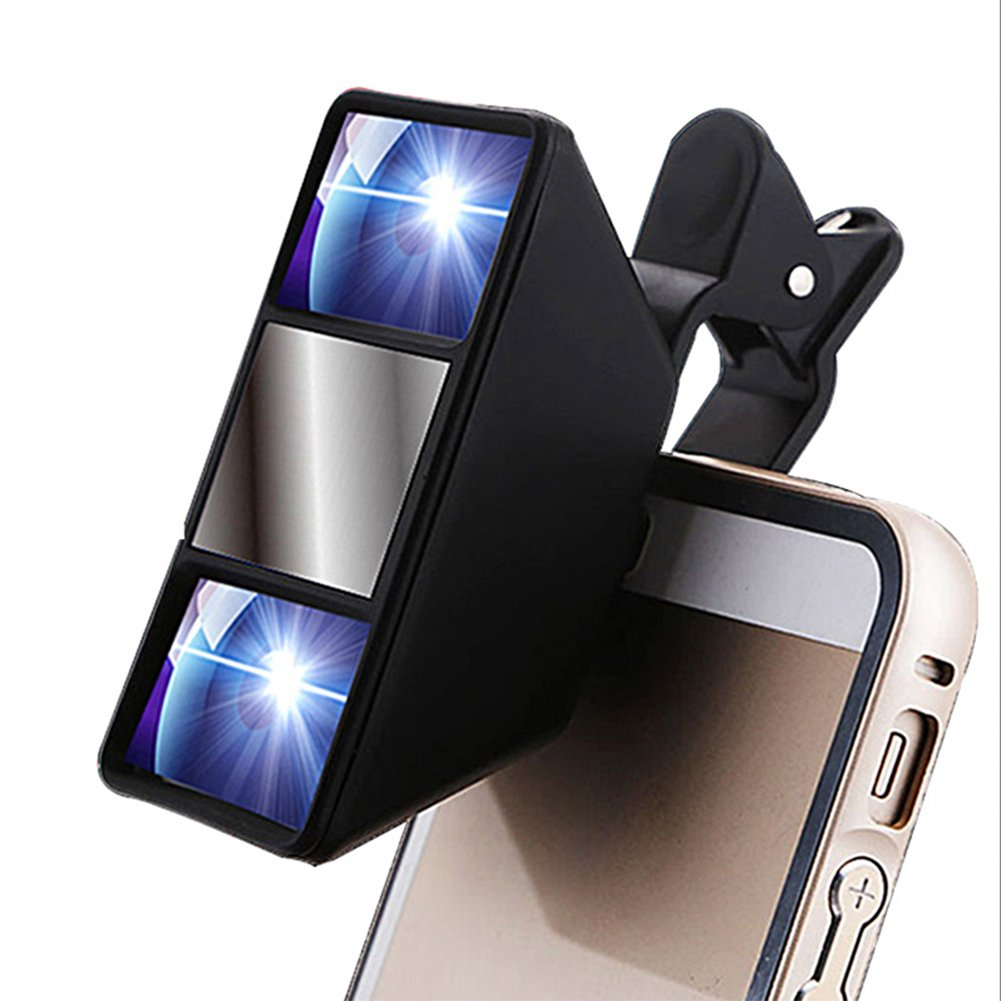 Aibote Mini Universal 3D Camera Lens Stereo Photograph Stereoscopic Vision with Clip for iphone Samsung Huawei Nokia LG Smartphones Tablets