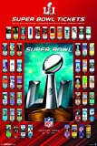 """Trends International Super Bowl LI Tickets Collector's Edition Wall Poster 24"""" x 36"""""""