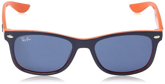 0a9d870ba7 Ray-Ban JUNIOR New Wayfarer Junior Gafas de sol, Top Blue on Orange, 49  Unisex-Niño: Amazon.es: Ropa y accesorios