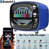 Divoom Tivoo Timebox Bluetooth Speaker Smart Portable Sleep-aid Alarm Clock LED APP Control Pixel Art Creation Animation LED Bluetooth Speaker (Blue)