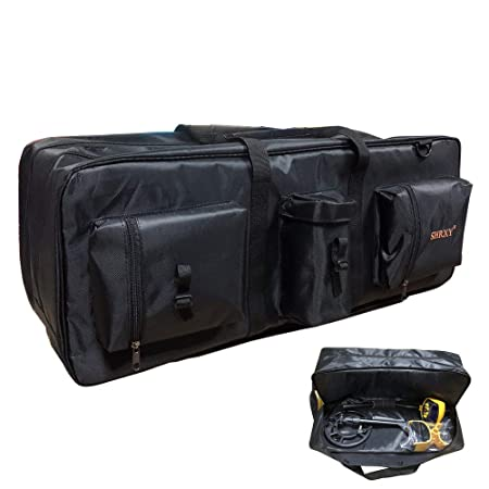 Metal Detector Carry Bag Portable Waterproof Canvas Storage Bag Double-Layer Carry Tools Organizer Backpack for Metal Detecting