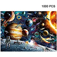 Alician 1000 Pieces Jigsaw Puzzles Educational Toys Scenery Space Stars Educational Puzzle Toy for Kids/Adults Christmas Halloween Gift Space traveler