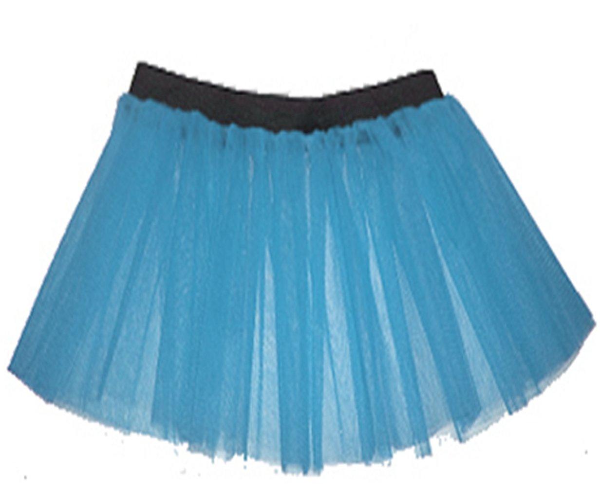 A-Express Tütü Rock Neon Tutu Netz Tüllrock 3 Lagen Petticoat für verrücktes Kleid Party Kostüm