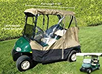 """3 Sided Drivable Golf Cart 2 seater Enclosure with Zippered door, fits E Z GO, Club Car and Yamaha G model roof up to 58""""L"""