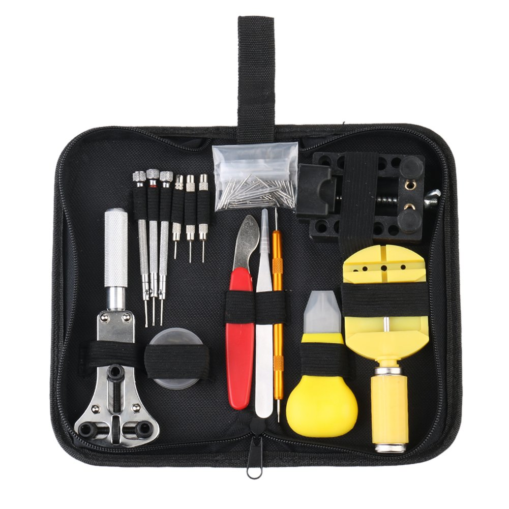 Multifunctional Watch Back Case Holder Opener Pin Link Remover Spring Tool Kit