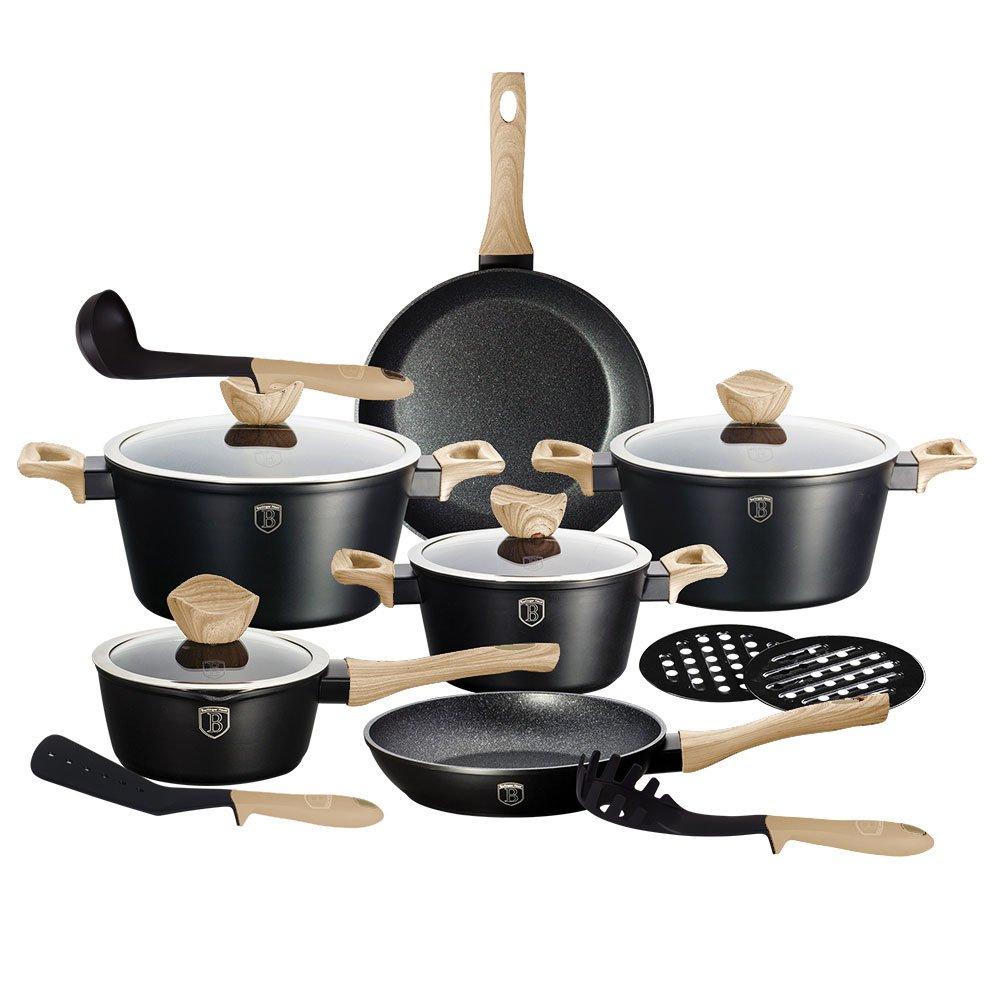 Berlinger Haus 15 Piece Cookware Set Pans Pots BH 1536 Aluminium