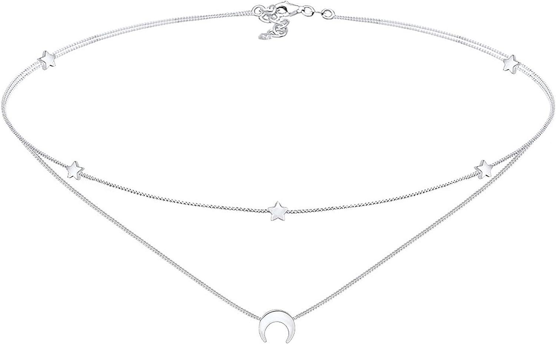Elli Collares Damas diseño estrella en plata de ley 925